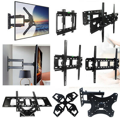 "Full Motion LED LCD TV Wall Mount Bracket Flat Tilt Swivel For 17''-70"" Inch US"