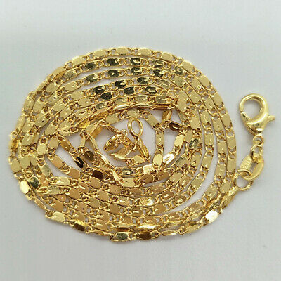 Elegant Wholesale Lots 18K Gold Plated Chain Fashion Necklace 16-30inch necklace
