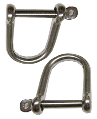 X2 4MM Stainless Steel Dee Shackle With Captive Pin Marine Screw Attachment D