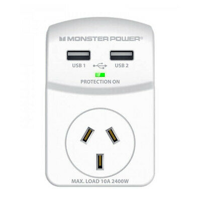Monster - 120084 - Single Outlet Essentials Surge Cube