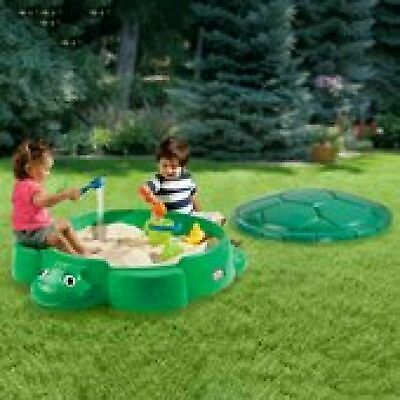 Little Tikes Turtle Sandbox With Lid Garden Kids Water And Sand Pit New Sealed