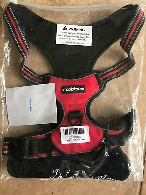 RABBITGOO Front Range XL No-Pull Adjustable Dog Harness (Color Red)
