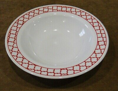 "Corelle CRIMSON TRELLIS Wide Rim 28-oz Entree BOWL 11"" Serving Pasta HOLIDAY RED"
