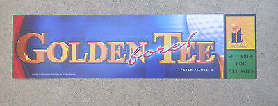 """GOLDEN TEE  FORE GOLF  ORIGINAL 26-6 7/8"""" arcade game sign marquee  cF42"""
