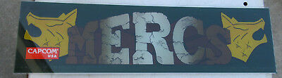 MERCS CAPCOM    27- 7 5/8 '' arcade game sign marquee CHECK PICTURE cfl