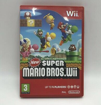 New Super Mario Bros. Wii - Nintendo Wii - PAL - CASE ONLY - Instructions