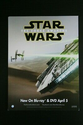 Star wars collectibles The force awakens Millennium falcon solo Movie card post