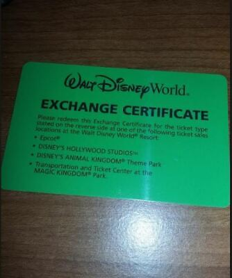 Walt Disney World Florida Resident 4-day Get Your Ears On exchange ticket