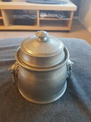 Vintage Pewter Musical Tea Caddie (The Blaydon Races )