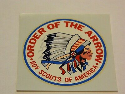 Vintage Boy Scouts of America Order of the Arrow Original Decal 3 and 1/2 inches