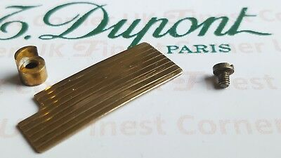 S T DuPont Lighter's Parts For Under Lids line 1 Large & Small Gold VGC PX26