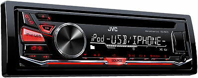 JVC Refurbished KD-R670 CD Receiver with Front USB/AUX Input
