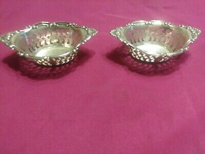 Lot Of 2 Sterling nut dishes by Birks