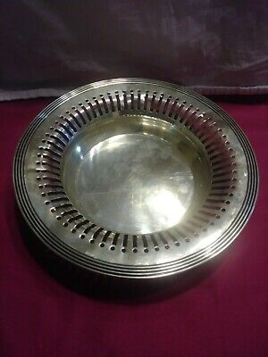 "Vintage 8"" Sterling 925 1000 pierced bread basket R. WALLACE & SON"