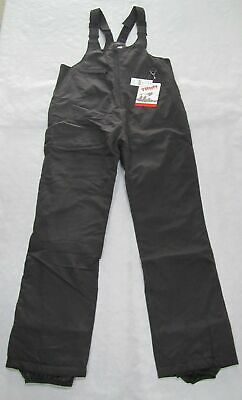 Kids Turbine (Trbn) Basic Insulated Winter Ski Snow Bib Pants (Black) Small 6-8