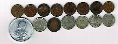 15 different coins from Hungary : 1894 - 1943