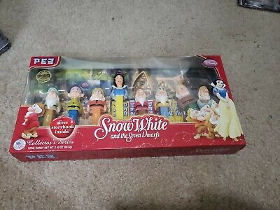 New SNOW WHITE AND THE 7 DWARFS PEZ DISPENSERS SET DISNEY LIMITED EDITION