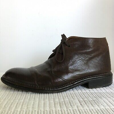 John Varvatos sz 10 Ankle Boots Lace Up Brown Leather Men's Casual City
