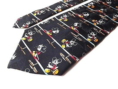 Vtg Lot Of 4 Animated Ties Mickey Mouse Looney Tunes