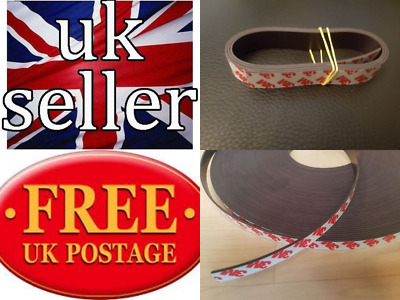 3M Self Adhesive strong backing Magnetic Tape 12mm x 1.5mm in chosen length