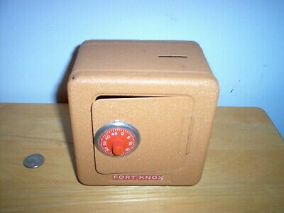 Metal Still Coin Bank Fort Knox Superior Toy Mfg. Co. Inc. With Lock Combination