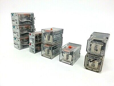 Lot of 12 Relays, Eaton, Cutler-Hammer, Diversified Electronics & More