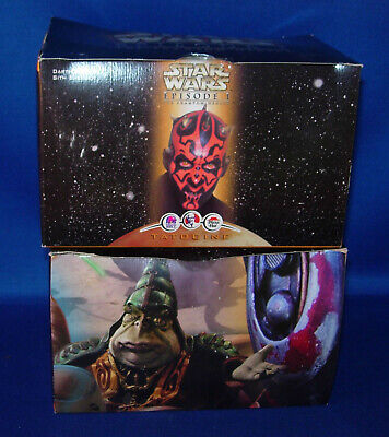 (2) Star Wars Episode I Figures, Joking Jar Jar, Darth Maul's Speeder   Inv.O361