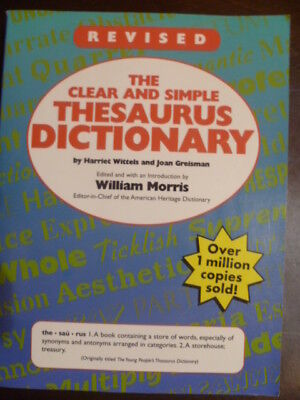 The Revised clear and Simple Thesaurus Dictionary [Aug 27, 1996] Wittels, Harr..