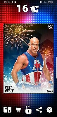 Topps WWE Slam Digital Card Kurt Angle 4th of July motion award 2019