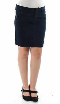TOMMY HILFIGER $65 Womens New 1278 Navy Above The Knee Pencil Casual Skirt 8 B+B