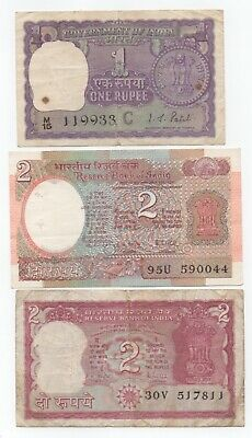 INDIA 1 & 2 Rupees in used condition - bargain!!!