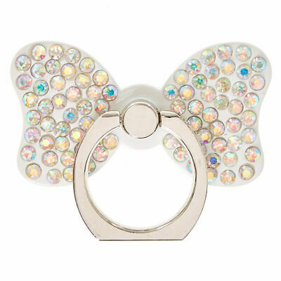 Claire's Girl's White Stone Studded Bow Ring Stand