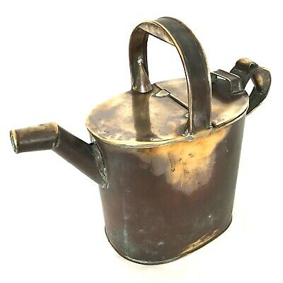 Vintage Brass Conservatory Orangerie Watering Can Fabulous Patina