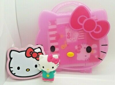 1e4c4ba82 Hello Kitty Plastic Coloring Book & Crayon Holder with Tin and Rolling Toy