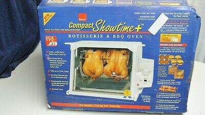 Ronco Compact Showtime+ Rotisserie & BBQ 3000T w/ Accessories. No Heat Shield