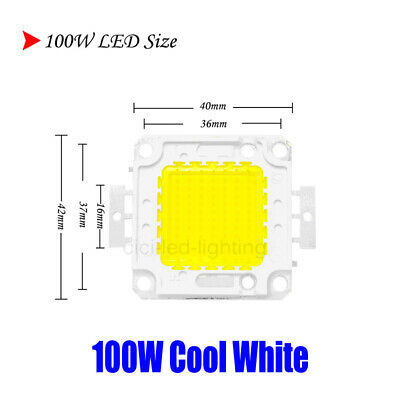 100W Cool White LED CHIP COB Floodlight Integrated Spotlight DIY For Quality SMD