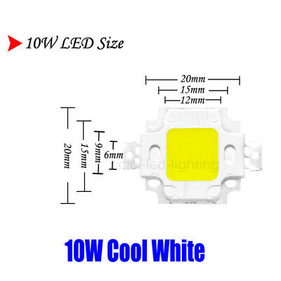 10W Cool White LED CHIP Output COB Bulb Quality For DIY Spotlight SMD Integrated