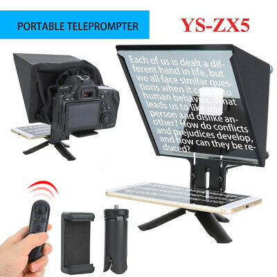 YS-ZX5 Smartphone Teleprompter For IOS Samsung Huawei Android Studio DSLR Camera