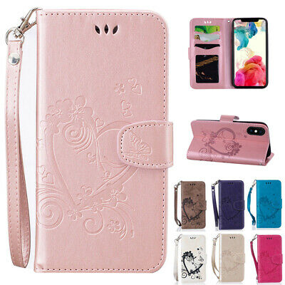 """PU Leather Flip Wallet Folio Stand Case Cover for iPhone X XR 6.1"""" XS Max 6.5"""""""