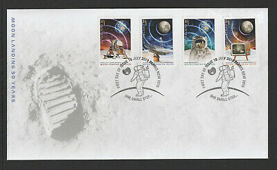Australia 2019: Moon Landing 50 Years. First Day Cover with Self-adhesive Stamps