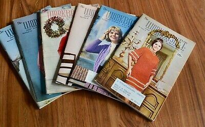 Vintage Workbasket Magazine Lot of Six from 1970
