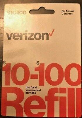 Verizon Wireless Prepaid $40 Refill Top Up (RTR Direct Load to Phone) 1-24 hours
