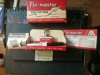 Vintage unused Flomaster Pen Marker Set With Ink Flo Master Graffiti with ink
