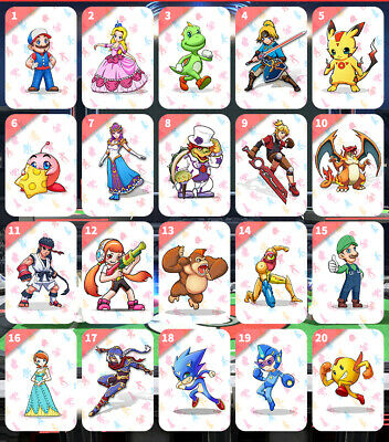 Latest Super Smash Bros. Ultimate PVC Tag 20pcs NFC Cards for toys game Switch