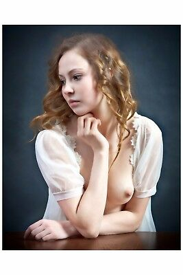0047 SEMI NUDE female Breast model FINE ART PHOTOGRAPH