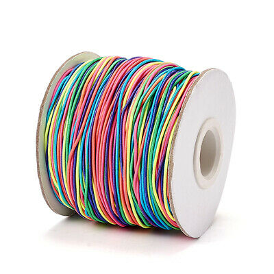 100m Round Elastic Fibre Cord Thread String Beading Jewelry Making Colorful 1mm