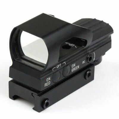 Touch-tone Metal Holographic 4 Reticle Red Green Dot Sight F 21mm Picatinny Rail
