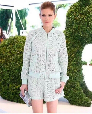db2533ae72a Victoria Beckham For Target Women's Mint Green Lace Bomber Jacket and Shorts  Set