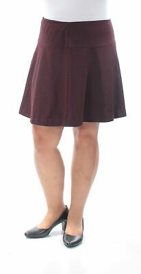 KENSIE $69 Womens New 1498 Burgundy Above The Knee A-Line Casual Skirt M B+B