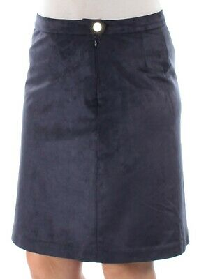 TOMMY HILFIGER $80 Womens New 1520 Navy Knee Length A-Line Casual Skirt 8 B+B